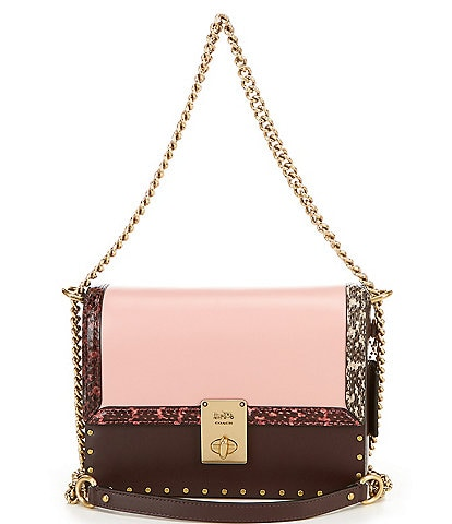 COACH COACH X Jennifer Lopez Hutton Colorblock Shoulder Bag