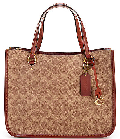 COACH Coated Canvas Signature Tyler Carryall 28 Tote Bag