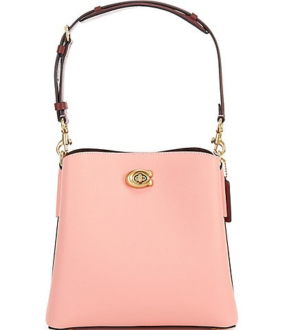 COACH Colorblock Leather Willow Bucket Bag
