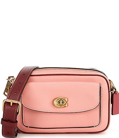 COACH Colorblock Leather Willow Camera Bag