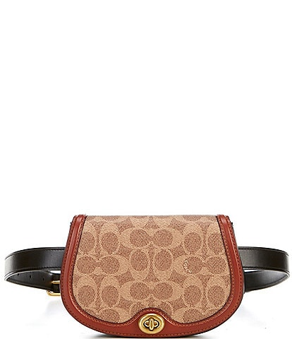 Coach Colorblock Signature Saddle Belt Bag