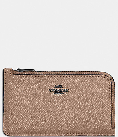 COACH Colorblocked Small L-Zip Card Case