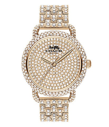 COACH Delancey Pave Crystal Bracelet Watch