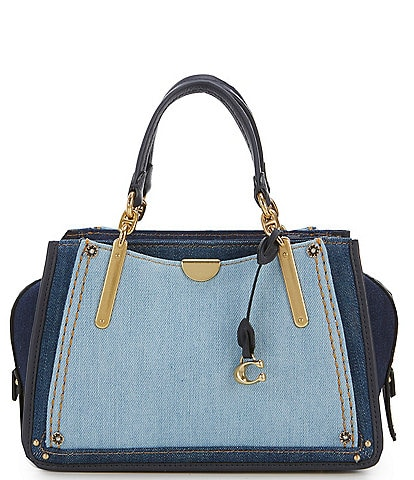 COACH Dreamer 21 Colorblock Denim Satchel