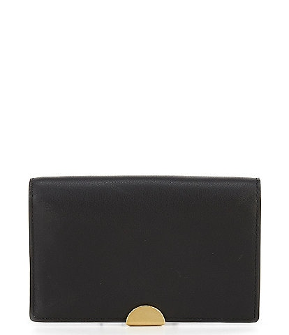 COACH Dreamer Leather Snap Card Case