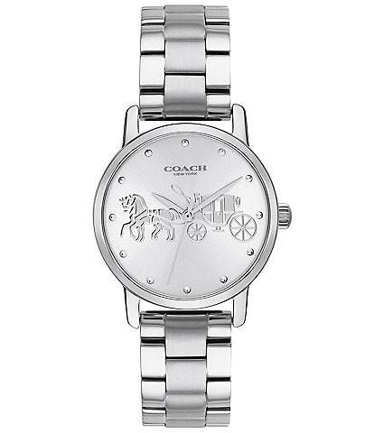 COACH Grand Carriage Bracelet Watch