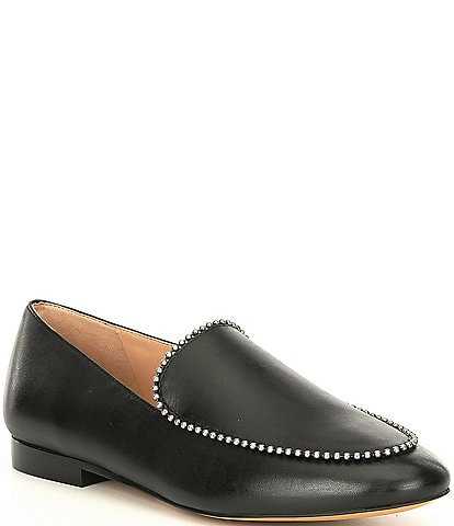 COACH Harper Bead Chain Leather Loafers