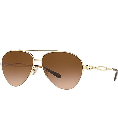 COACH HC7124 Ladies 59mm Pilot Metal Sunglasses