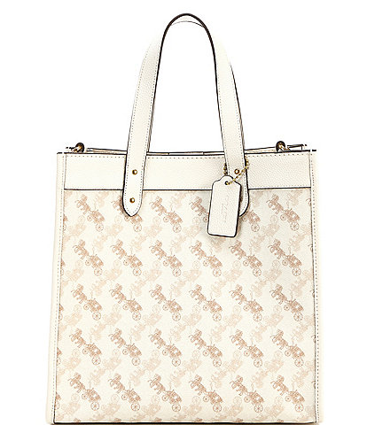 COACH Signature Horse and Carriage Coated Canvas Field Tote Bag