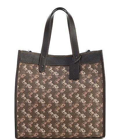 COACH Horse and Carriage Coated Canvas Field Tote Bag