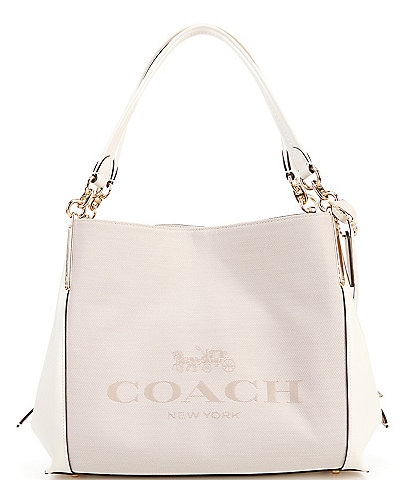 COACH Horse and Carriage Jacquard Leather Dalton Shoulder Bag