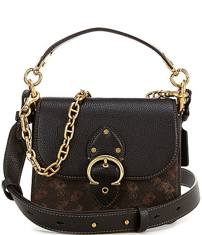 COACH Horse and Carriage Print Beat Shoulder Bag