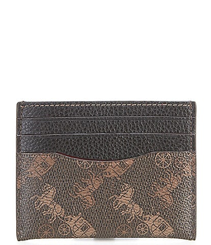 COACH Horse and Carriage Print Card Case