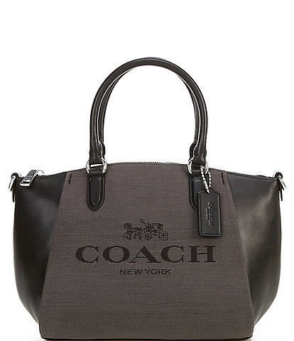COACH Horse and Carriage Print Elise Satchel Bag