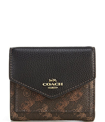 COACH Horse and Carriage Print Small Wallet