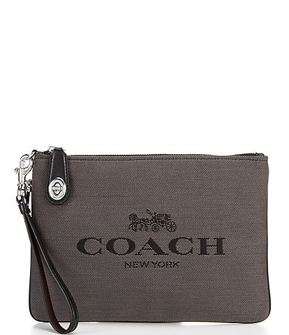 COACH Jacquard Horse and Carriage Turnlock Pouch