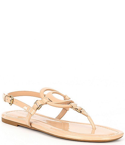 COACH Jeri Patent Thong Sandals