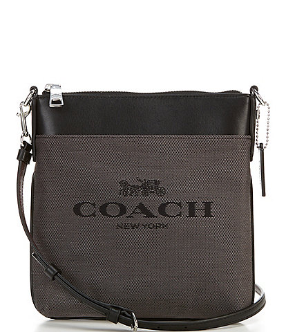 COACH Kitt Messenger Jacquard Leather Crossbody Bag