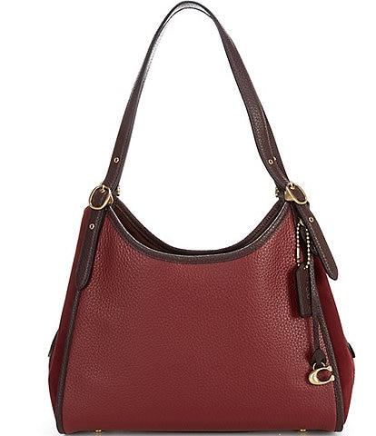 COACH Lori Mixed Leather Shoulder Bag