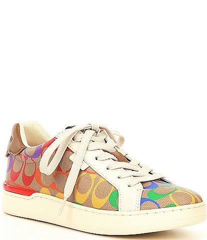 COACH Lowline Rainbow Coated Canvas Sneakers