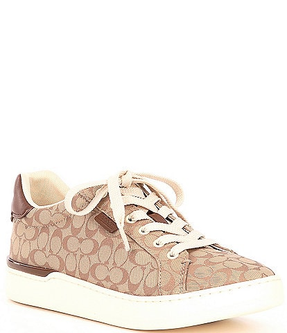 COACH Lowline Signature Logo Lace-Up Sneakers