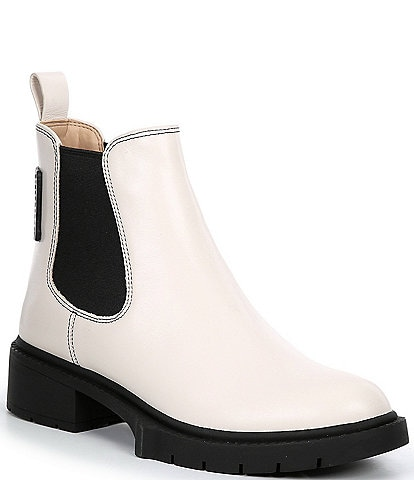 COACH Lyden Leather Chelsea Booties