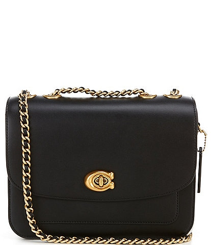 COACH Madison Calf Leather Chain Strap Shoulder Bag