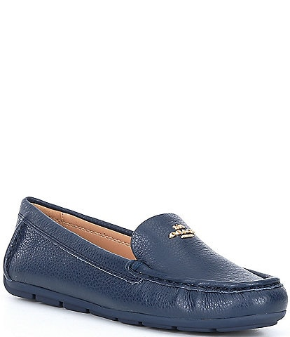 COACH Marley Leather Logo Slip-On Drivers