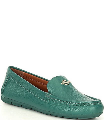 COACH Marley Leather Logo Slip On Drivers