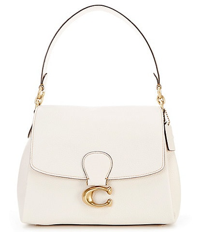 COACH May Soft Pebble Leather Shoulder Bag