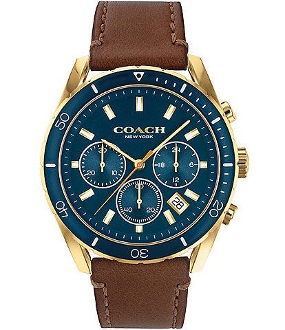 COACH Men's Preston Brown Leather Watch