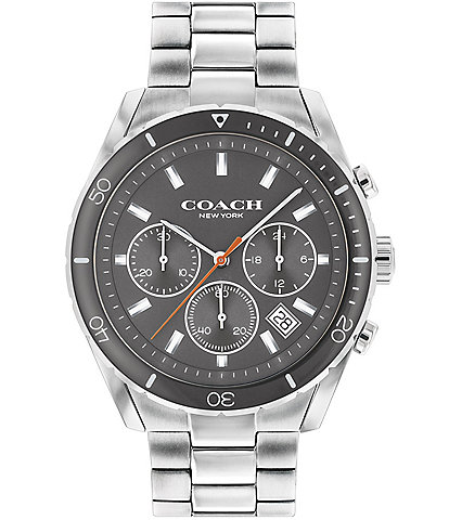 COACH Men's Preston Grey Dial Bracelet Watch