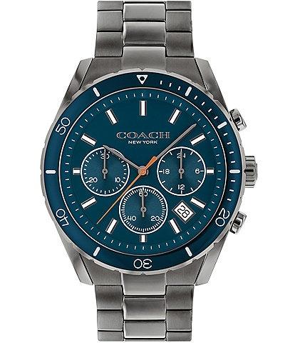 COACH Men's Preston Grey IP Bracelet Watch