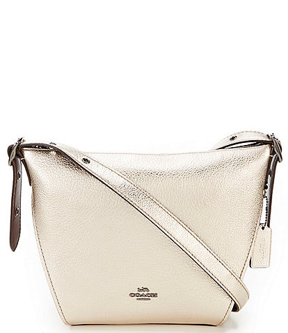 dc47875c16e Coach Metallic Small Dufflette Hobo Bag