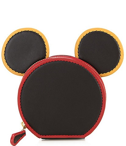 COACH Disney Mickey Mouse x Keith Haring Leather Ear Coin Case