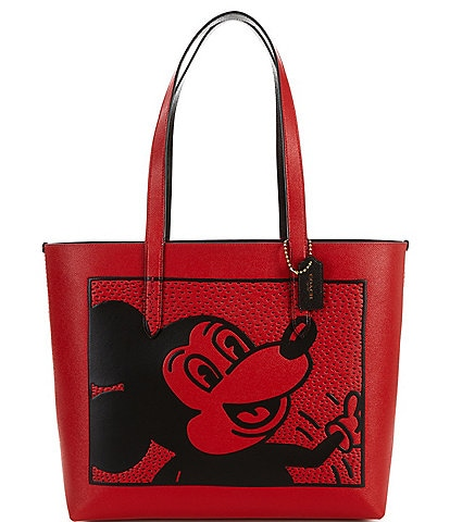 COACH Disney Mickey Mouse x Keith Haring Highline Leather Tote Bag