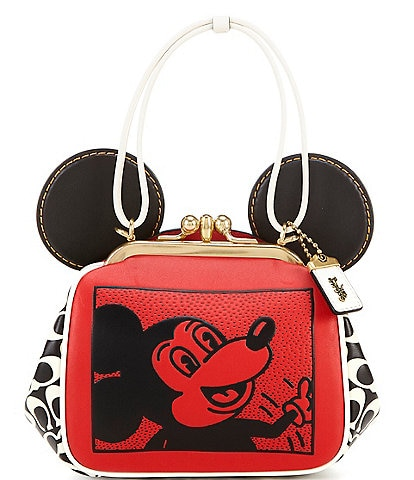 COACH Mickey Mouse Kisslock Shoulder Bag