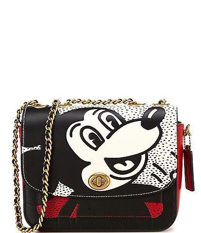 COACH Disney Mickey Mouse x Keith Haring Madison Shoulder Bag
