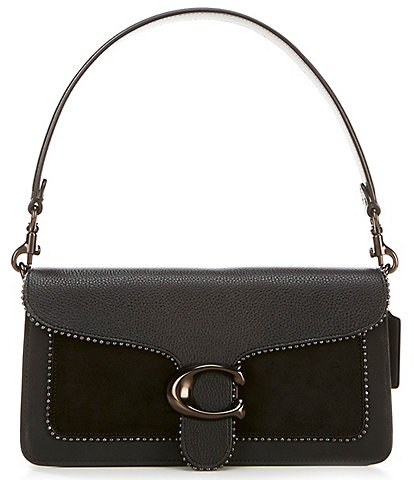 COACH Mixed Leather with Beadchain Tabby Shoulder Bag
