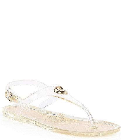 COACH Natalee Jelly Water-Friendly Thong Sandals