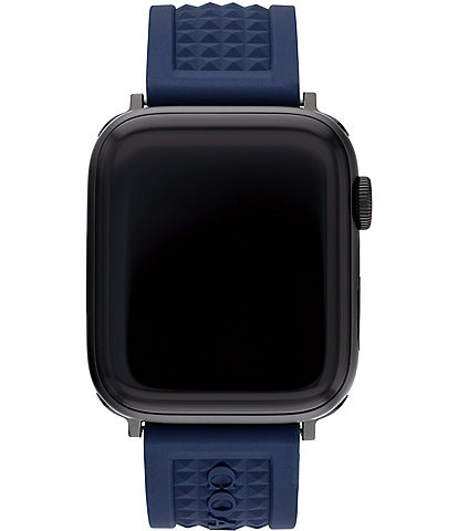 COACH Navy Textured 42/44mm Band for Apple Watch®
