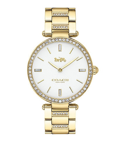 Coach Park Gold Tone Bracelet Watch