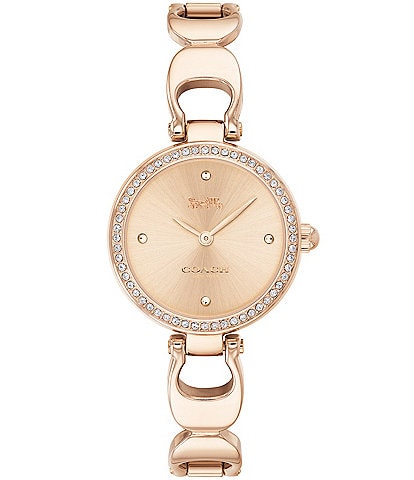 COACH Park Signature Chain Bangle Watch