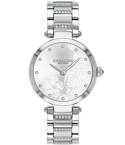 COACH Park Stainless Steel Etched Sunray Dial Bracelet Watch