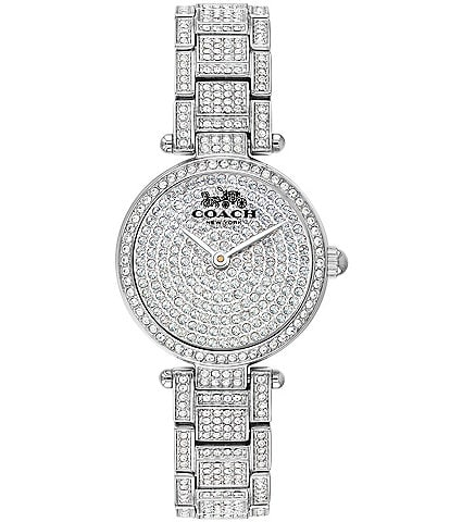 COACH Park Women's Steel & Crystal Analog Watch