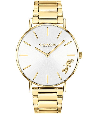 COACH Perry Gold Tone Bracelet Analog Watch