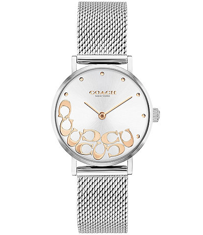 COACH Perry Mesh Stainless Steel Bracelet Watch