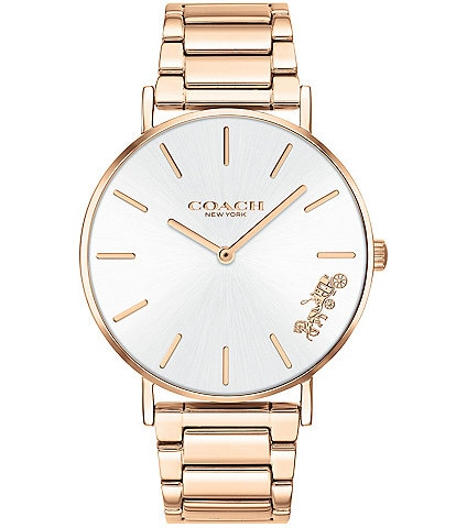 COACH Perry Rose Gold Bracelet Watch