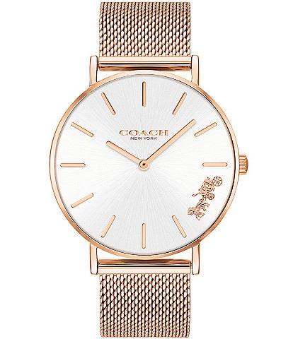 COACH Perry Rosegold Mesh Bracelet Watch
