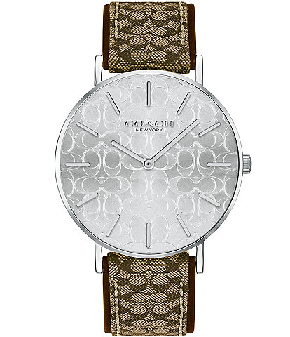 COACH Perry Signature Jacquard Strap Analog Watch